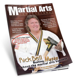 Rick Bell karate magazine cover